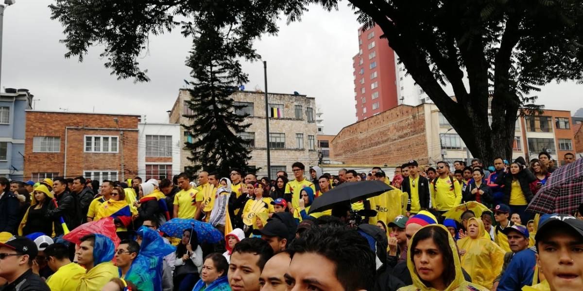En fotos: así celebró Bogotá el triunfo de la Selección