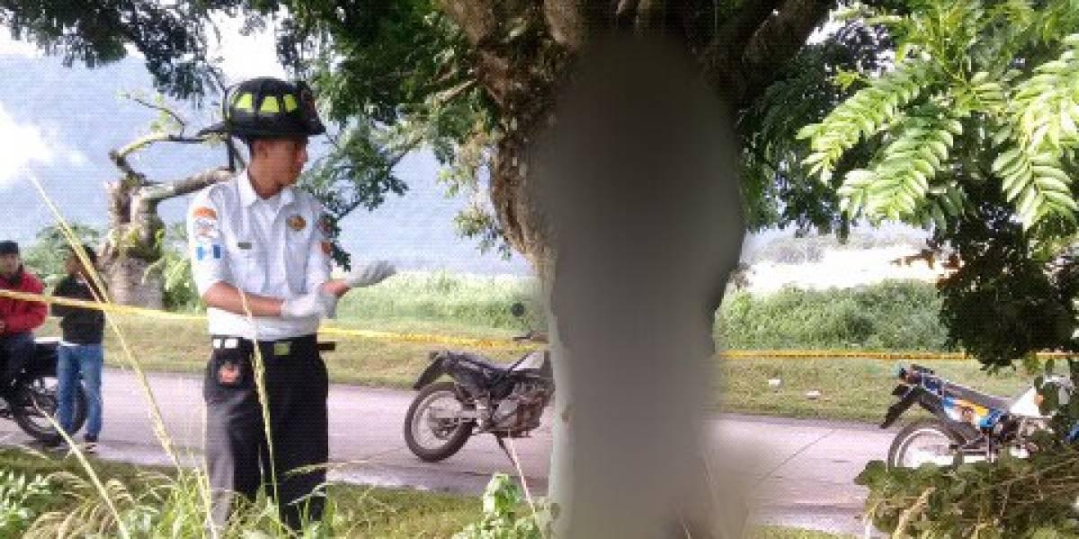Localizan a hombre fallecido colgado de un árbol en Villa Canales