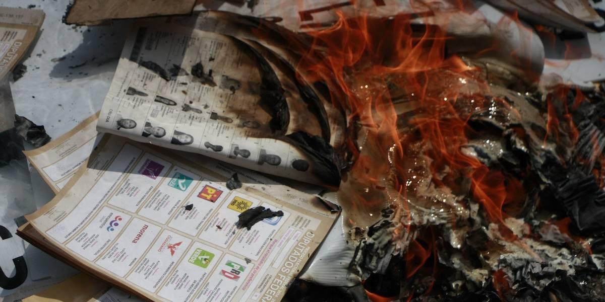 Por segunda ocasión, roban boletas electorales en Oaxaca