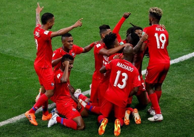 Los jugadores panameños celebraron a lo grande su anotación
