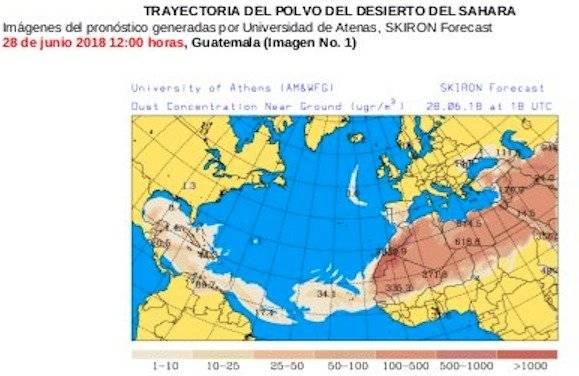 Polvo del Sahara generará ambiente brumoso y caluroso en el país