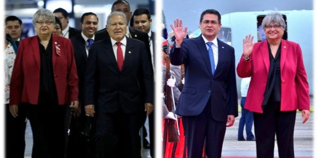 Presidentes de El Salvador y Honduras arriban a Guatemala para reunión con Mike Pence