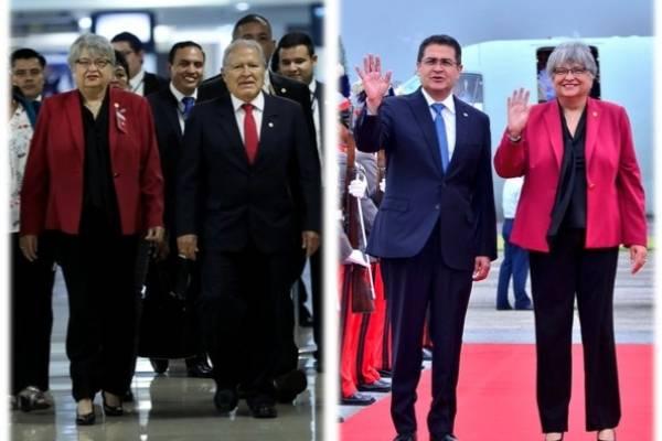 presidentes de Honduras y El Salvador llegan a Guatemala