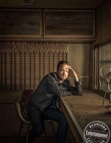 Aaron Paul como Jesse Pinkman, ex-aluno de Mr. White que acaba se tornando sócio na produção e venda de drogas. Dan Winters/Reprodução/Entertainment Weekly