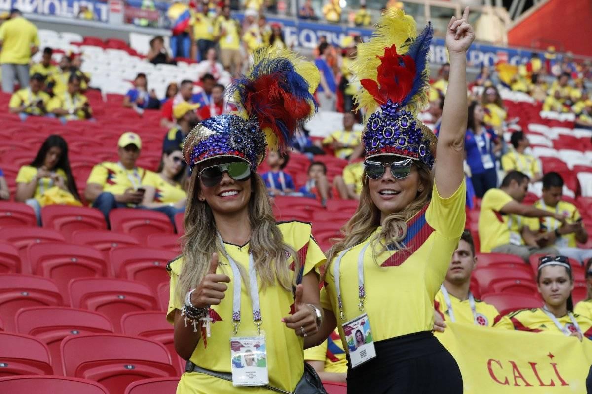 Las hermosas mujeres colombianas celebraron el triunfo ante Japón  Getty Images