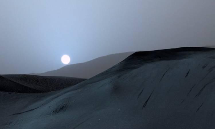 El Sol desde la superficie marciana