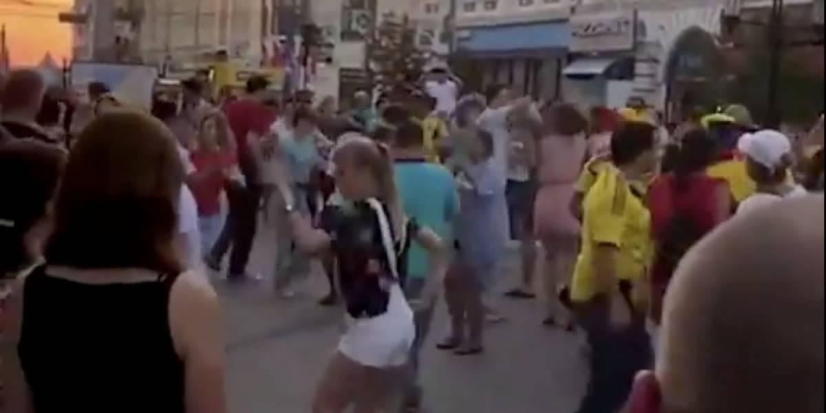 ¿Samara pachanguero? Colombianos 'azotaron' las calles de la ciudad rusa al ritmo de salsa