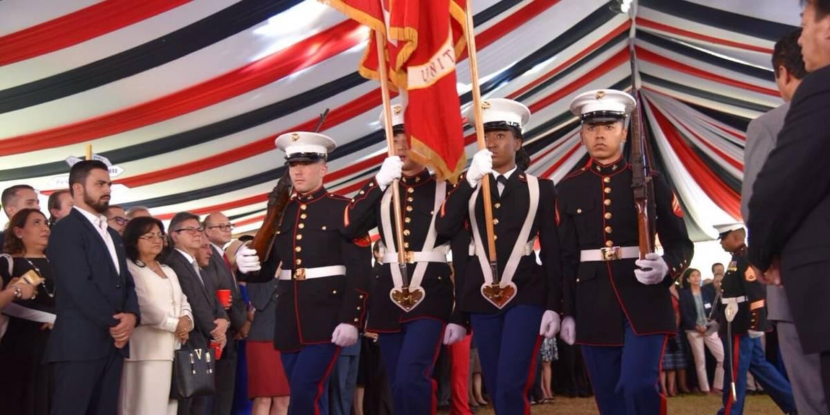 ¿Quiénes fueron los invitados a la celebración de la Independencia de EE.UU.?