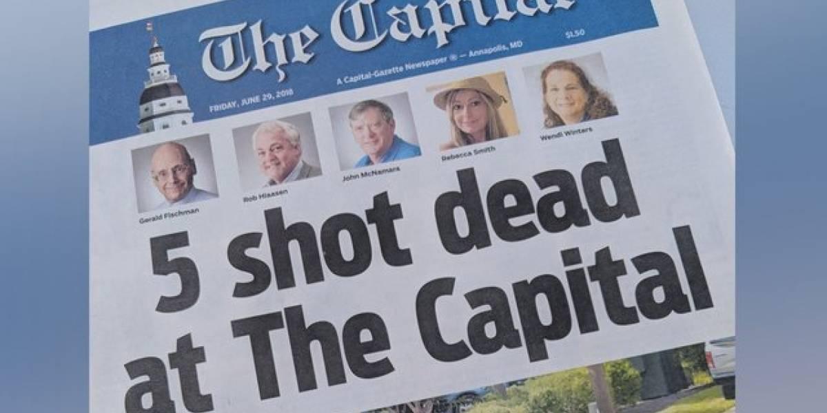 Periódico Capital Gazette publica edición tras matanza