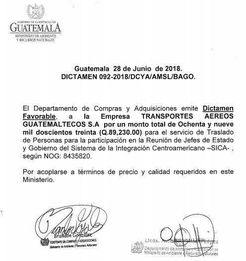 dictamen del Marn por vuelo a República Dominicana