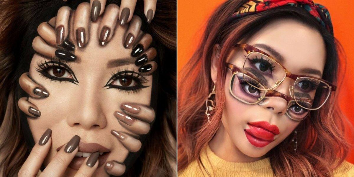 Artista cria impressionantes ilusões de ótica usando apenas maquiagem