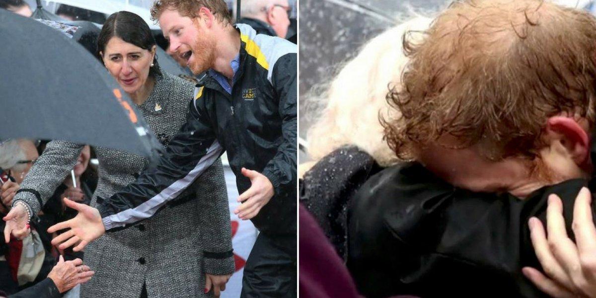 O momento em que príncipe Harry reconheceu alguém importante no meio da multidão