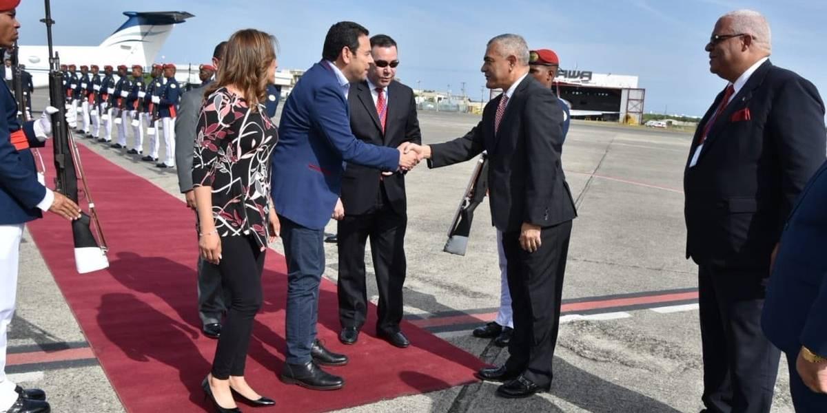 Morales y su comitiva viajaron a República Dominicana en vuelo privado
