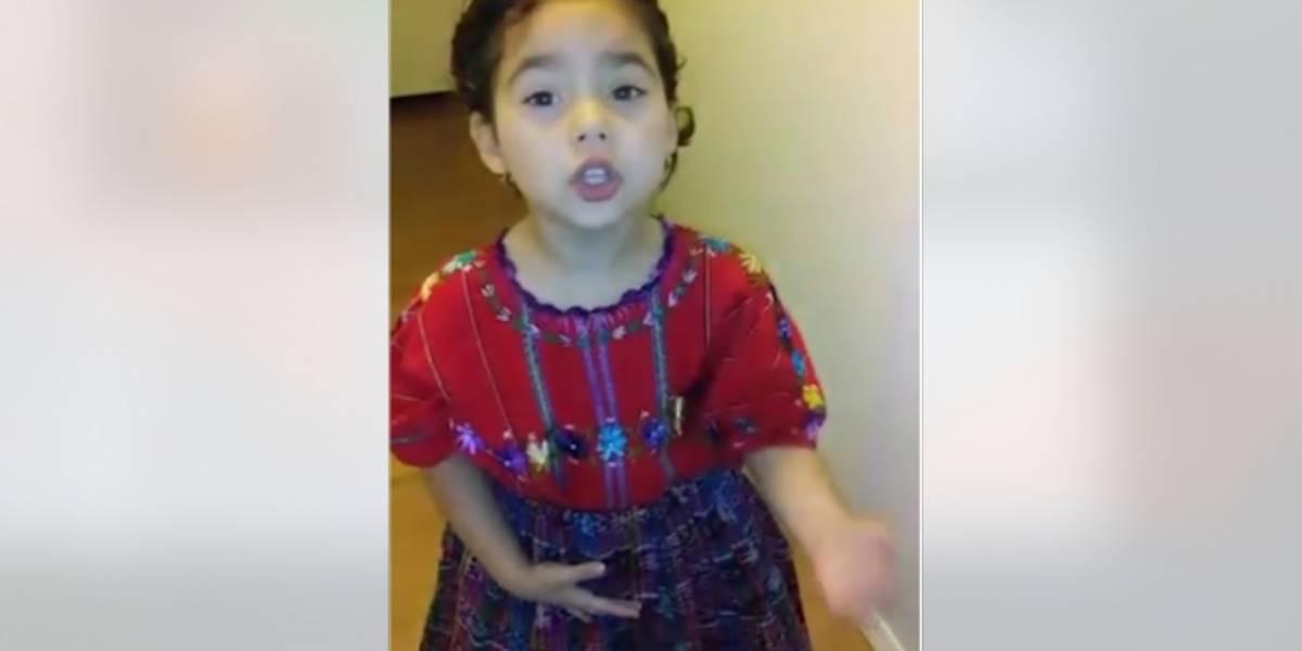"""VIDEO. Niña de cuatro años impresiona al interpretar """"Luna de Xelajú"""""""