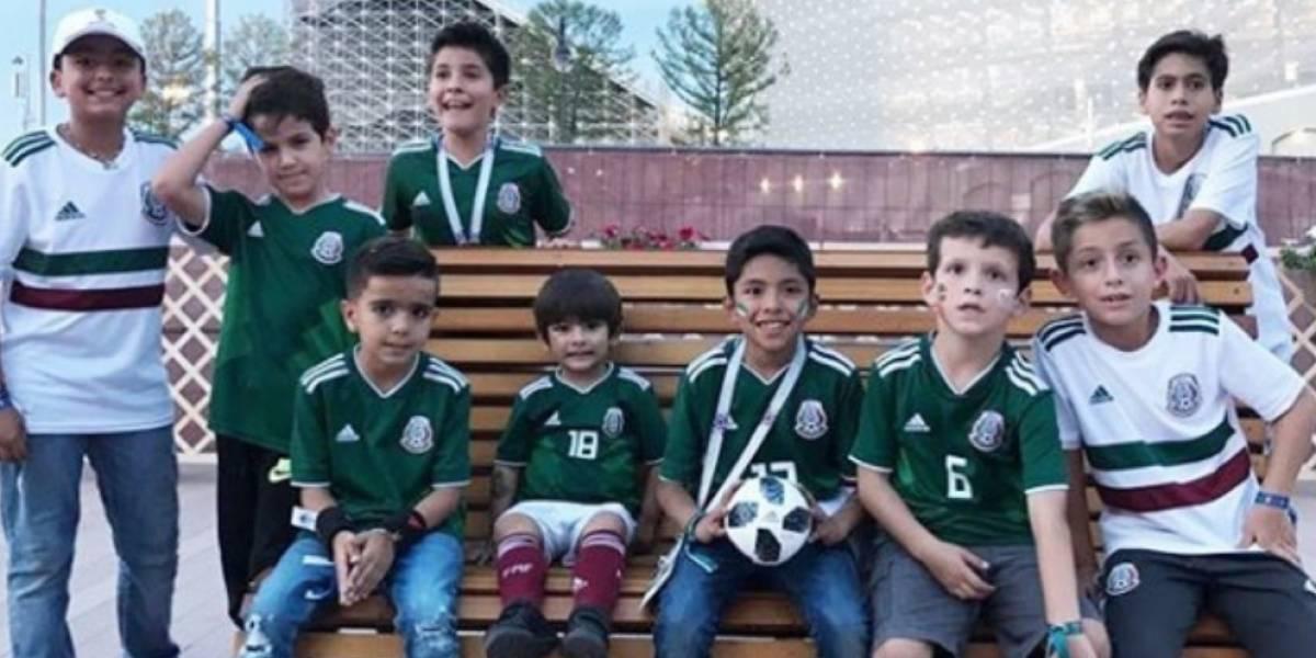 VIDEO: Hijos de seleccionados mexicanos echaron 'cascarita' en Rusia
