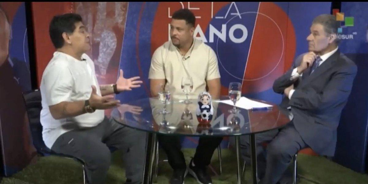 VIDEO: Maradona y Ronaldo ven mejoras en la Selección de Brasil en Rusia 2018