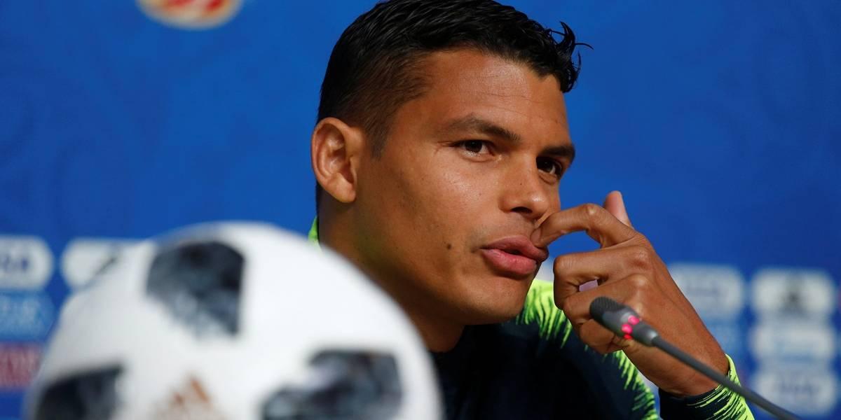 'Lábios mais bonitos da seleção', diz página da Wikipédia sobre Thiago Silva
