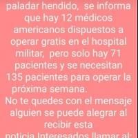 Hospital Militar desmiente información sobre operación del labio leporino