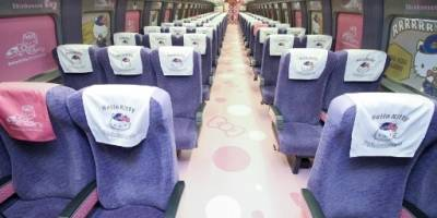 Tren bala de Hello Kitty en Japón