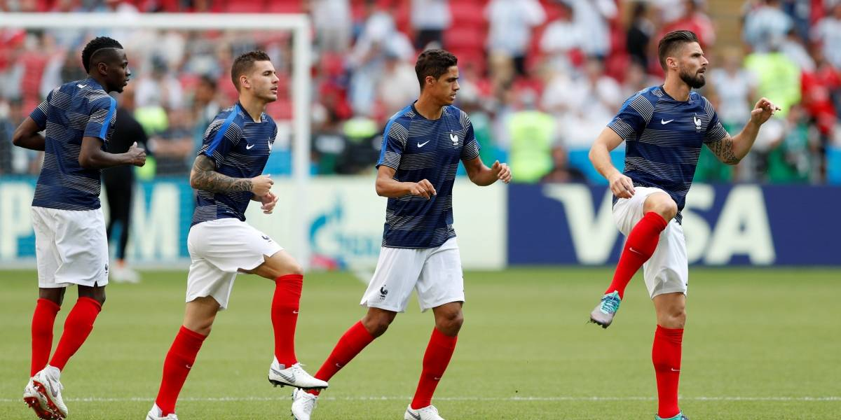 A escalação de França e Argentina para jogo das oitavas da Copa do Mundo