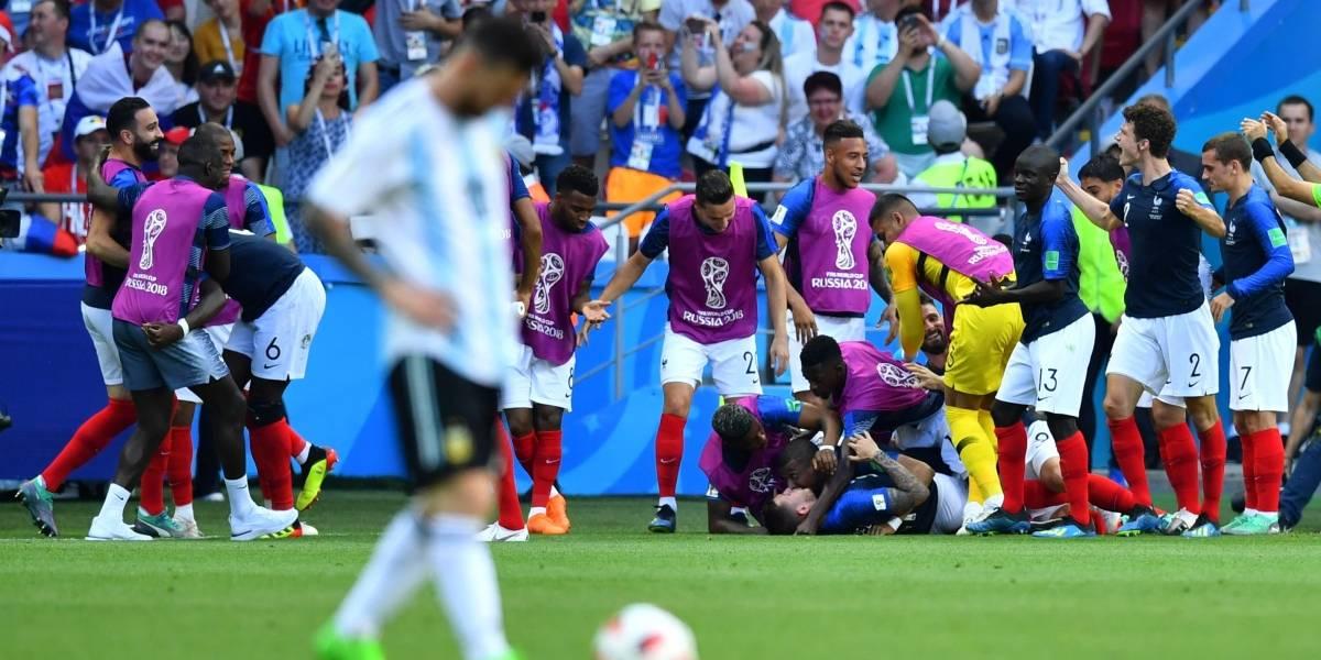 Em jogo com 7 gols, França elimina a Argentina de Messi