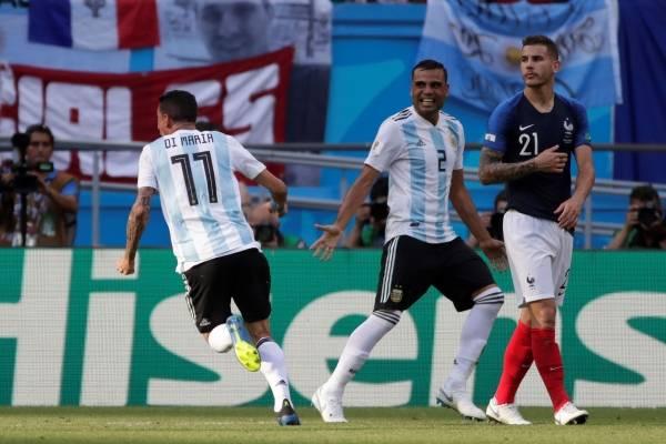 Video del gol de Di María con Argentina VS Francia