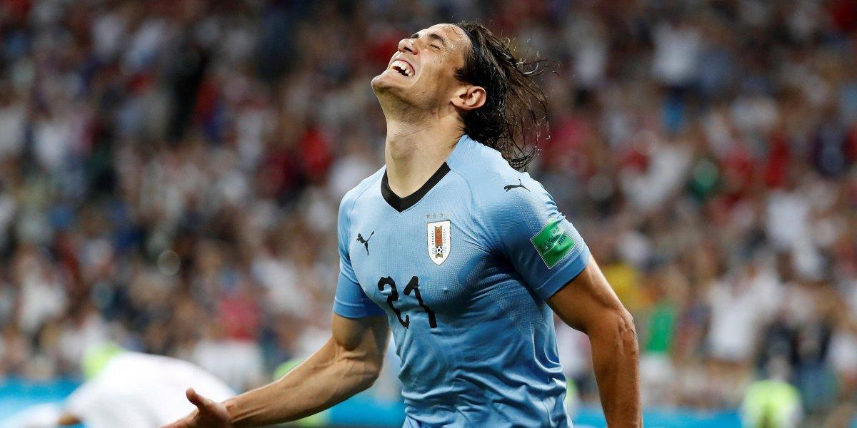 ¡Cara y corazón! Cavani puso todo en el gol uruguayo