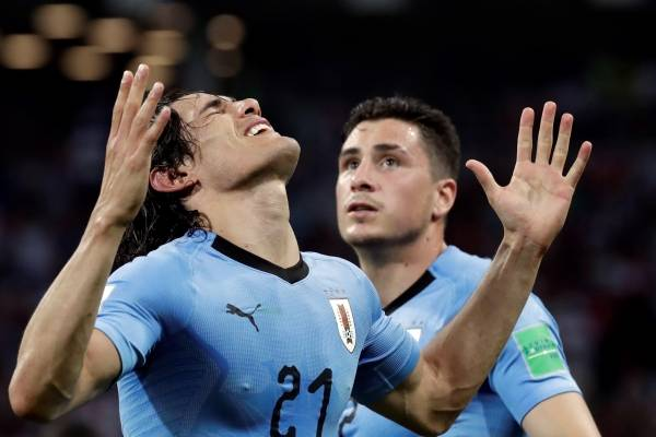 Video de los goles de Uruguay vs Portugal