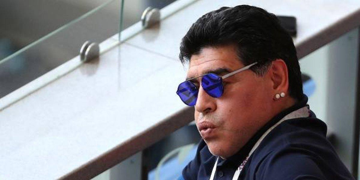 Desesperación de Diego Maradona durante el partido de Francia y Argentina