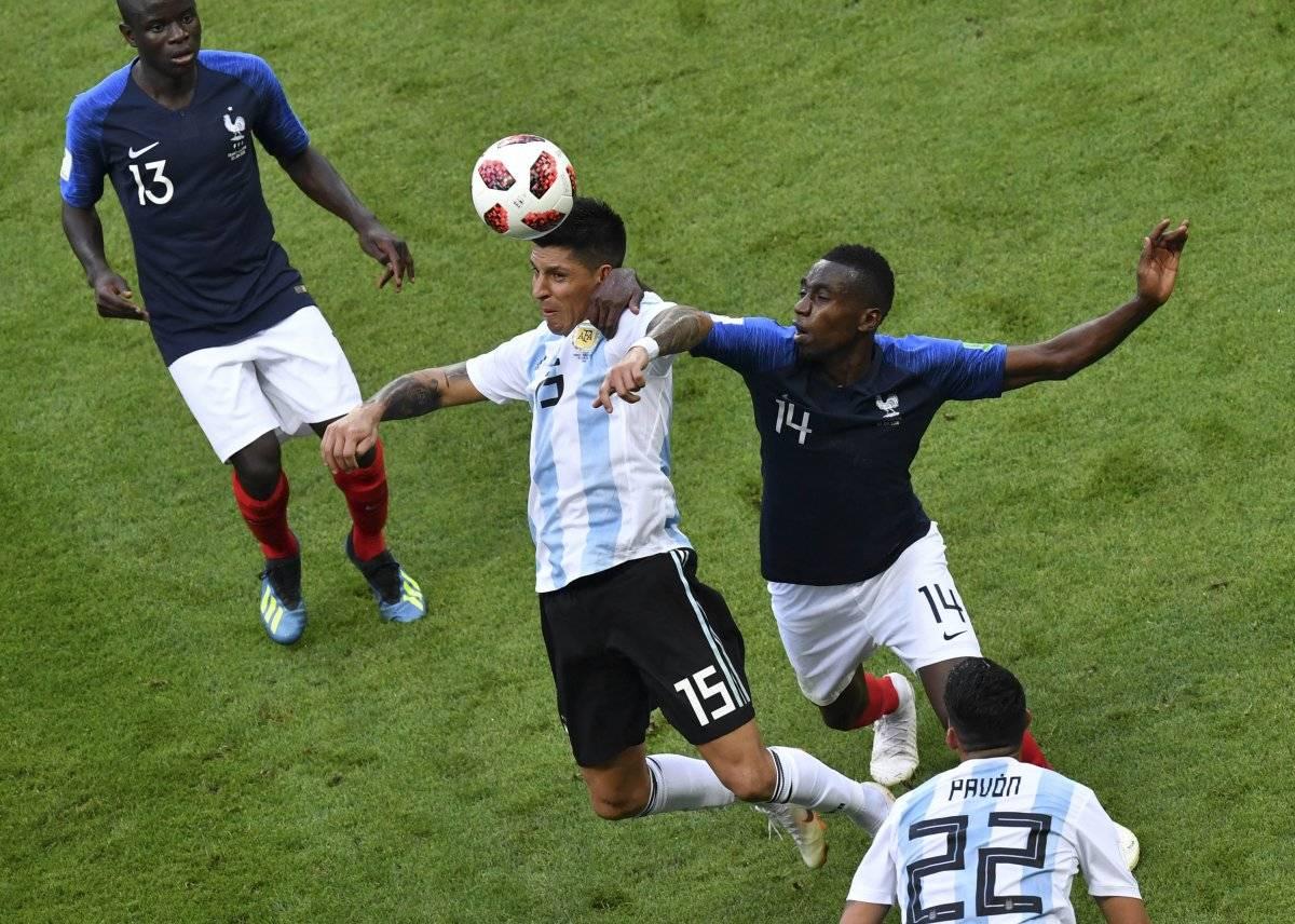 Acción del juego Francia vs. Argentina