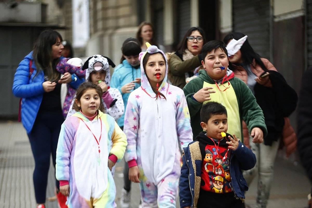 Los niños también se hicieron parte