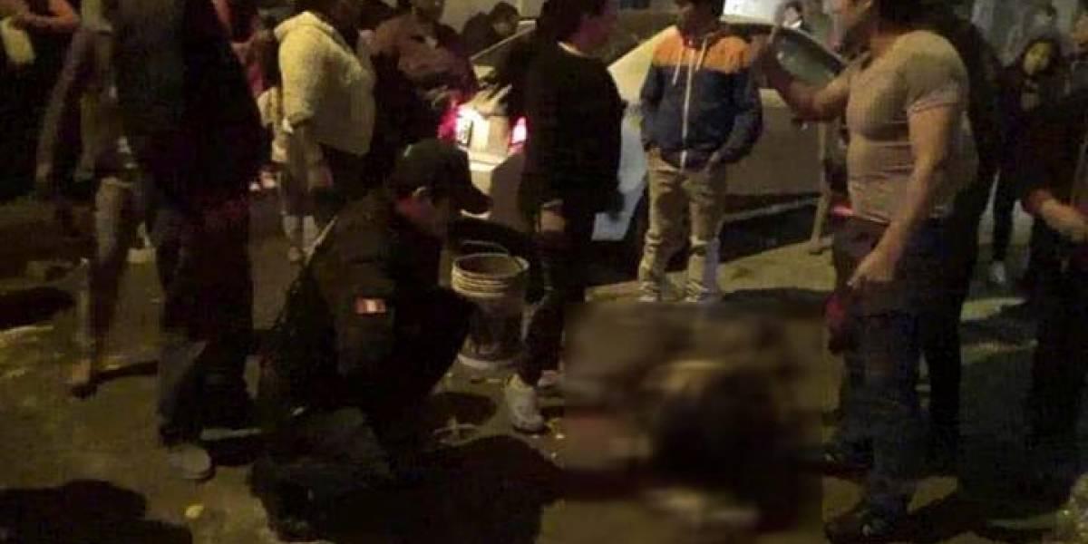 Peruano rocía gasolina a una mujer y le prende fuego