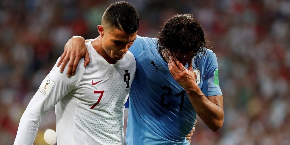 El noble gesto de Cristiano Ronaldo con Edinson Cavani