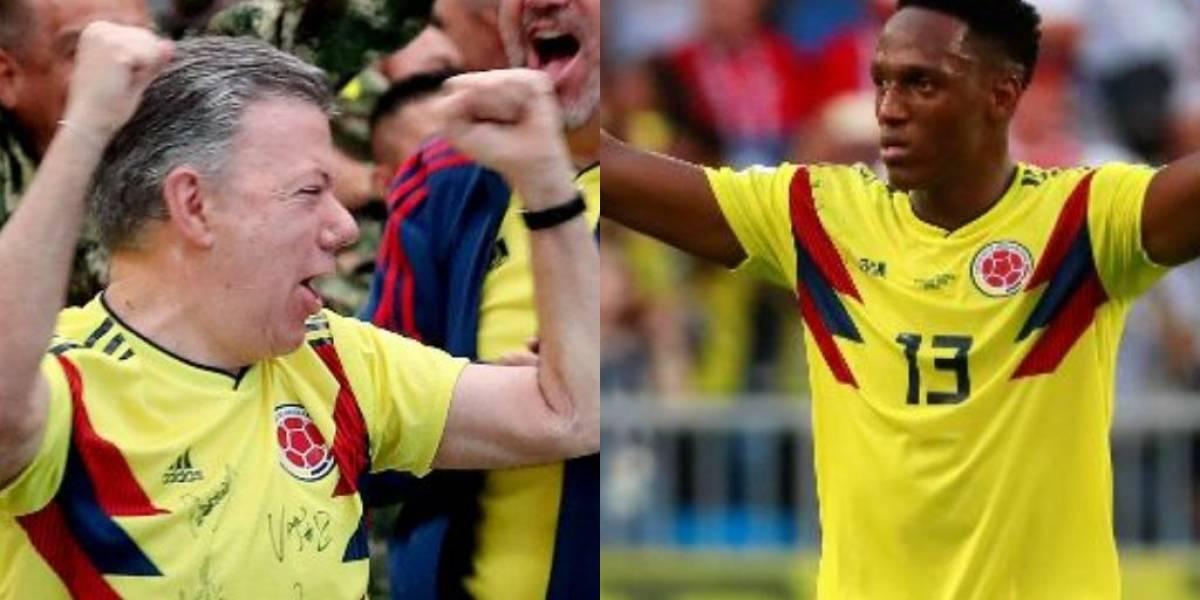 """Santos le promete un """"regalito"""" a Guachené y a la familia de Yerry Mina"""