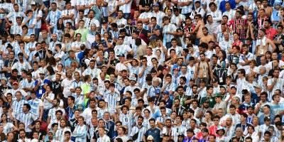 La frustración de los aficionados argentinos tras la eliminación.