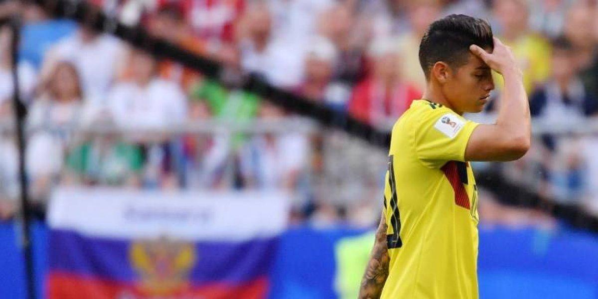 ¡Alarmante! James Rodríguez no jugará en los octavos de final con Inglaterra