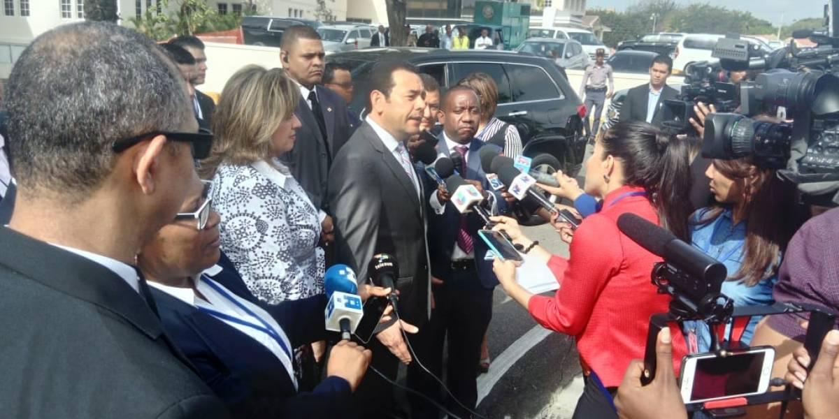 De esto habló Jimmy Morales con periodistas en República Dominicana