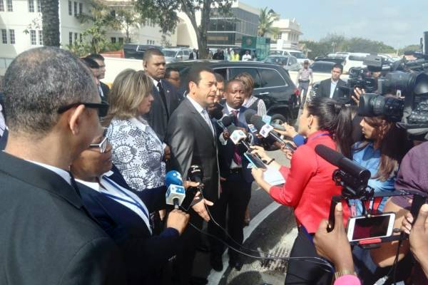 Presidente Jimmy Morales en República Domincana