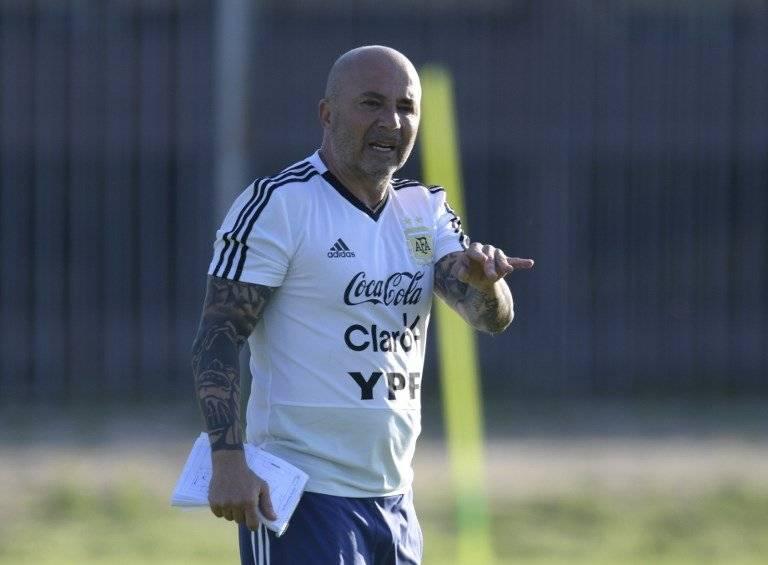 Sampaoli dirige una práctica de Argentina