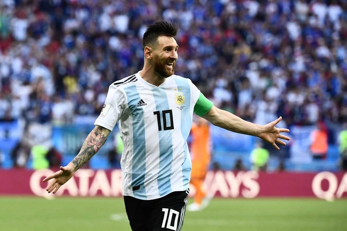 Messi solo pudo celebrar una vez en el Mundial.