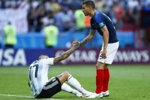 Los jugadores argentinos terminaron desconsolados