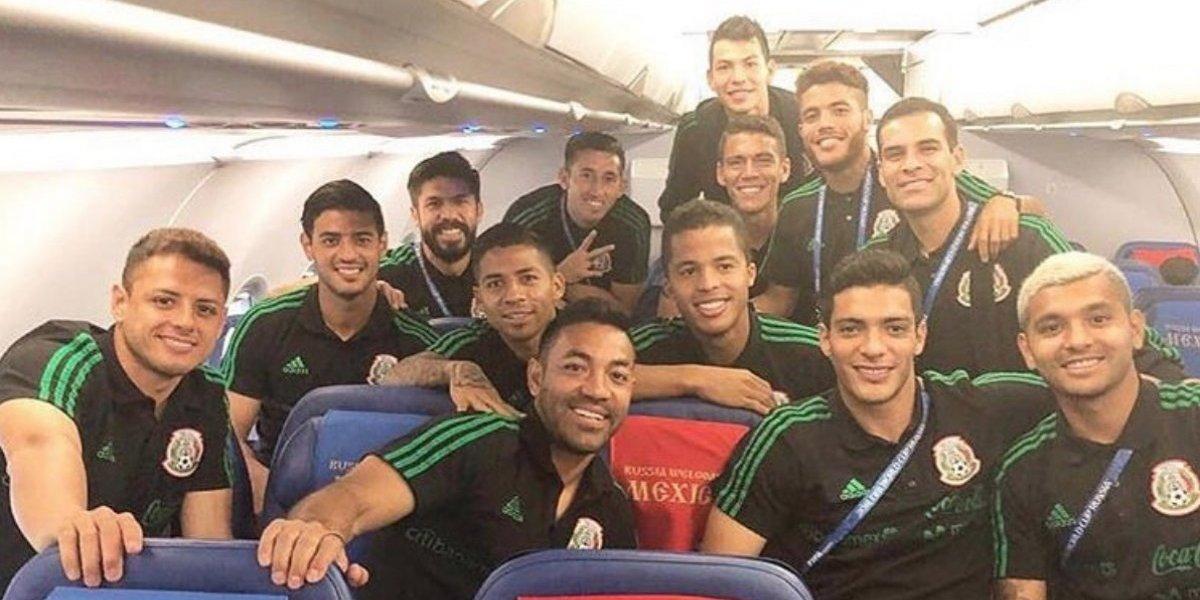 El Tri llega a Samara para enfrentar a Brasil en octavos