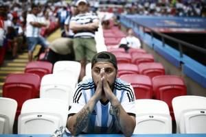 Frustración de la afición de la afición argentina