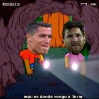 Memes Cristiano Ronaldo y Messi