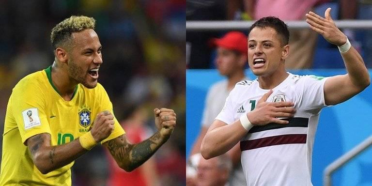 Neymar y Hernández serán claves en el partido entre Brasil y México