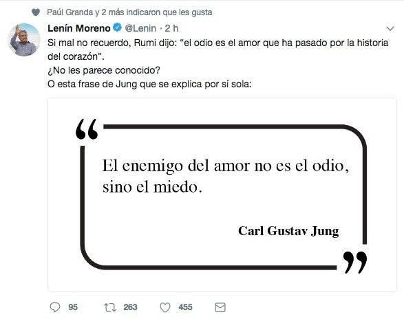 Lenín Moreno Twitter