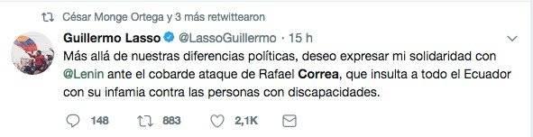 Guillermo Lasso Twitter