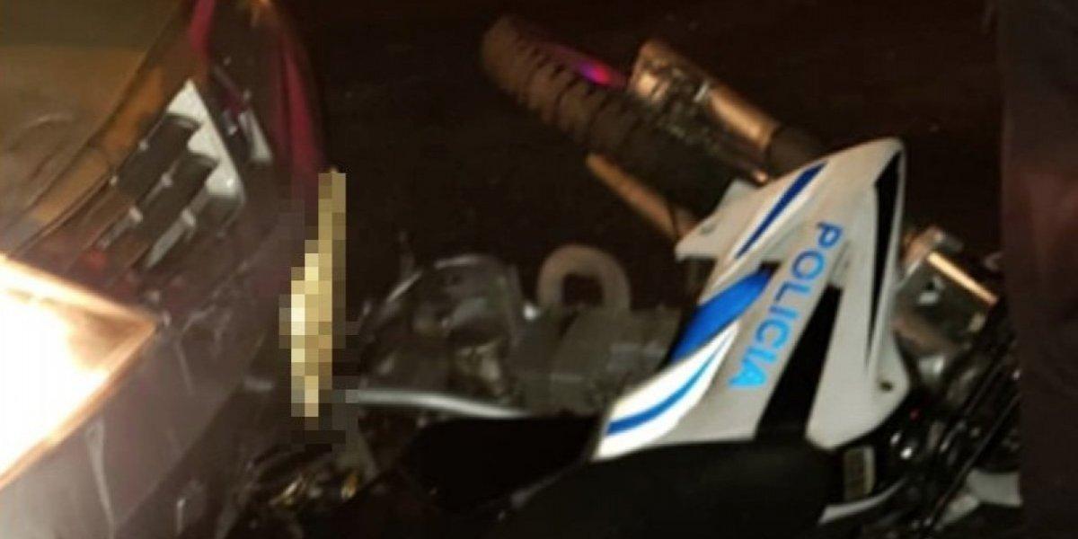 Policía Nacional: Conductor en estado etílico arrastró a moto policial