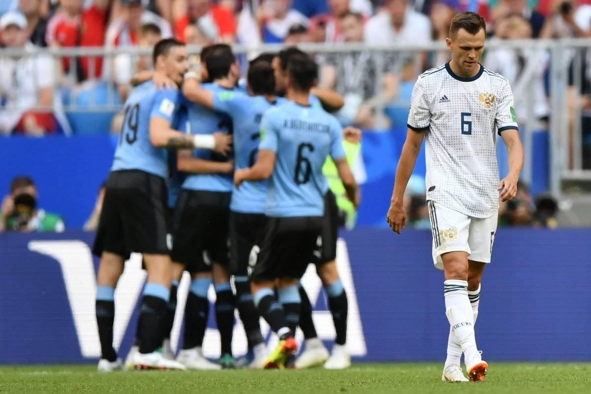 Cheryshev marcó en propia meta ante Uruguay