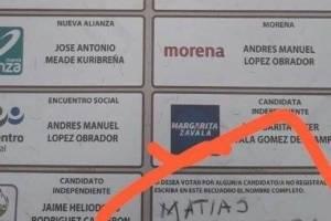 Boletas electorales de aficionados al futbol